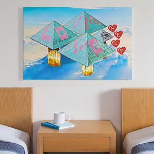 pyramid power canvas art