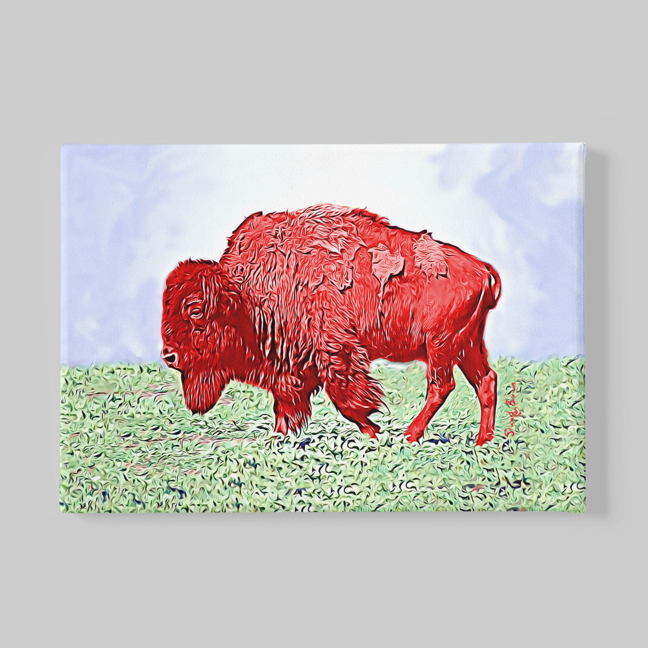 red bison