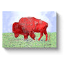 red bison wall art