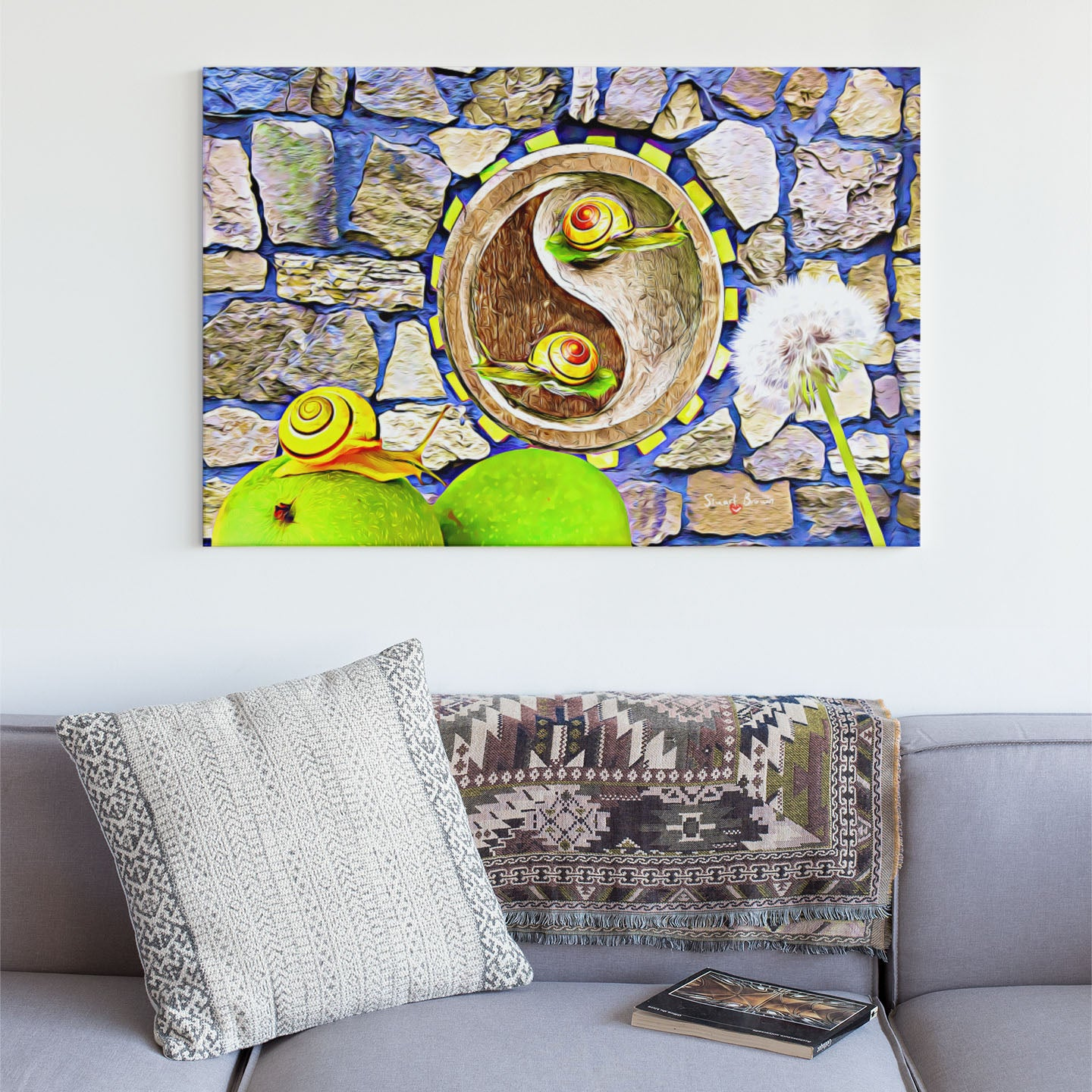 snail art the wisdom of snails canvas art print
