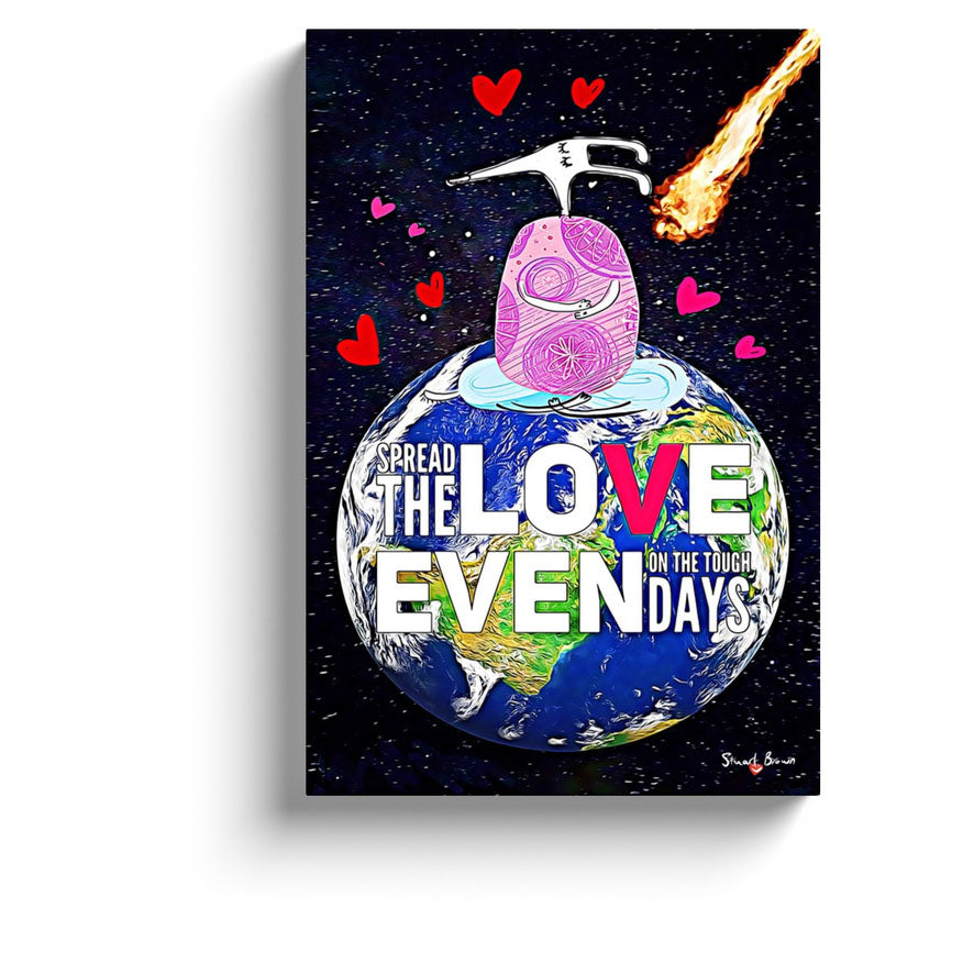 spread the love even on the tough days meditation canvas art print