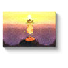 sunrise art yoga cow at sunrise practicing yoga asanas