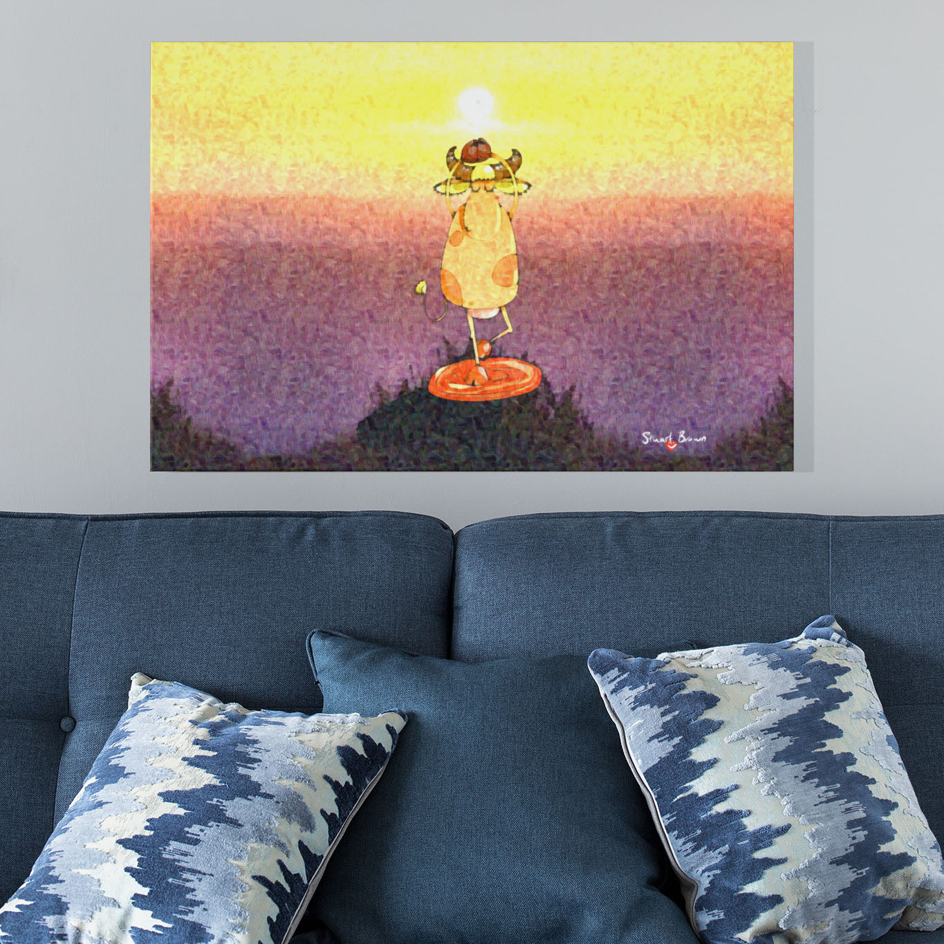 sunrise yoga art