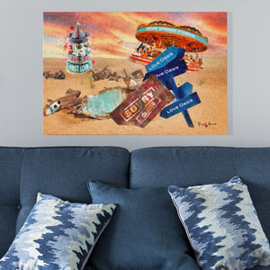 the love carousel wall art print by stuart brown