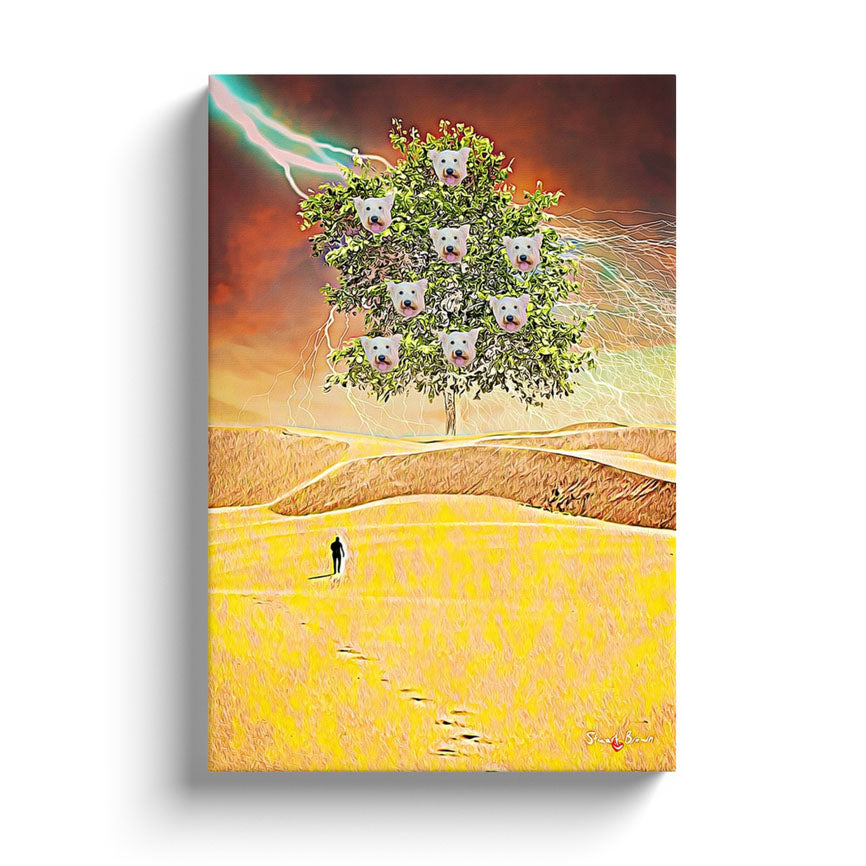 the westie tree of knowledge wall art print