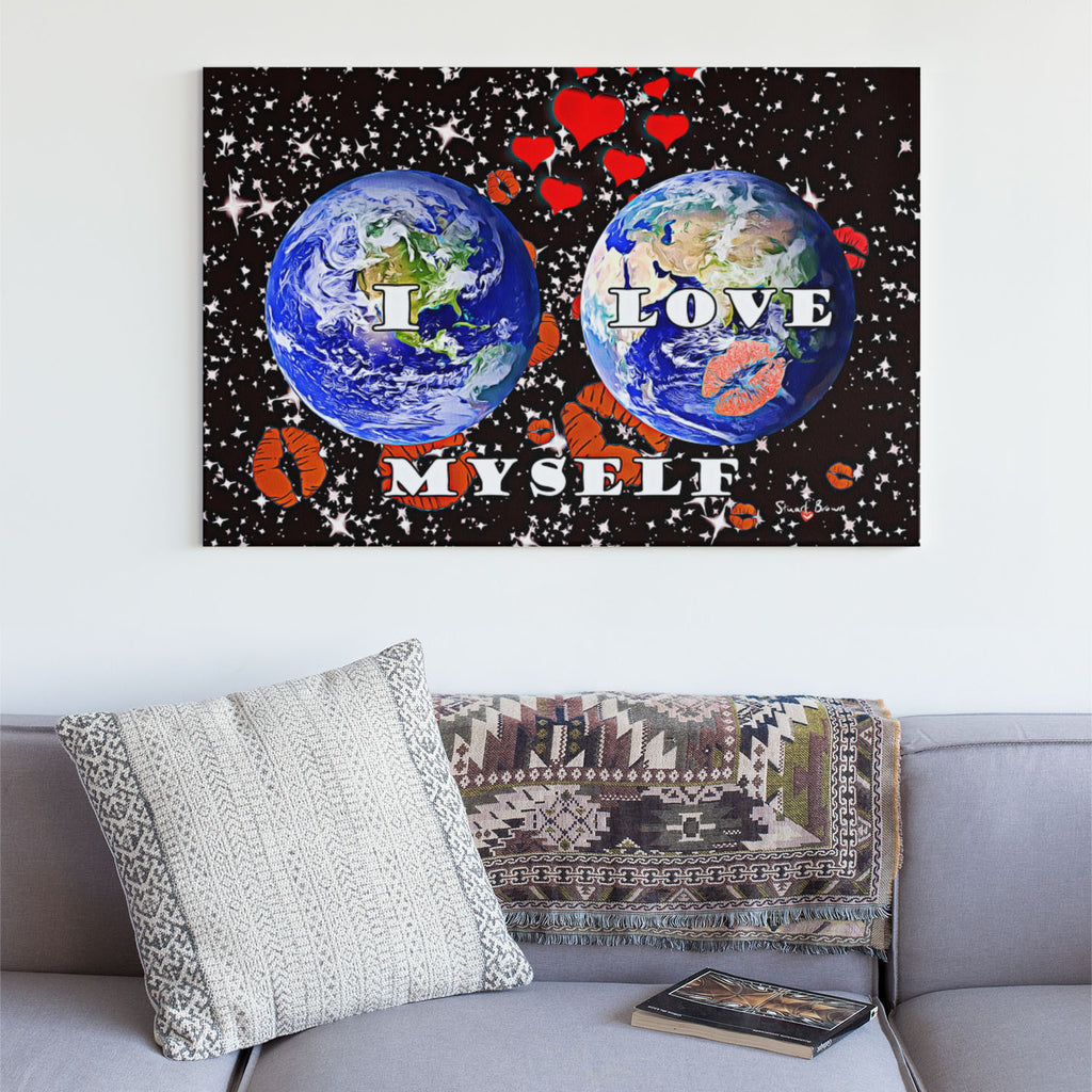 two planets kissing