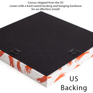Back of canvas when shipped to the US