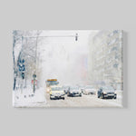 winter canvas art watercolor print