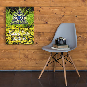 yellow and green canvas art