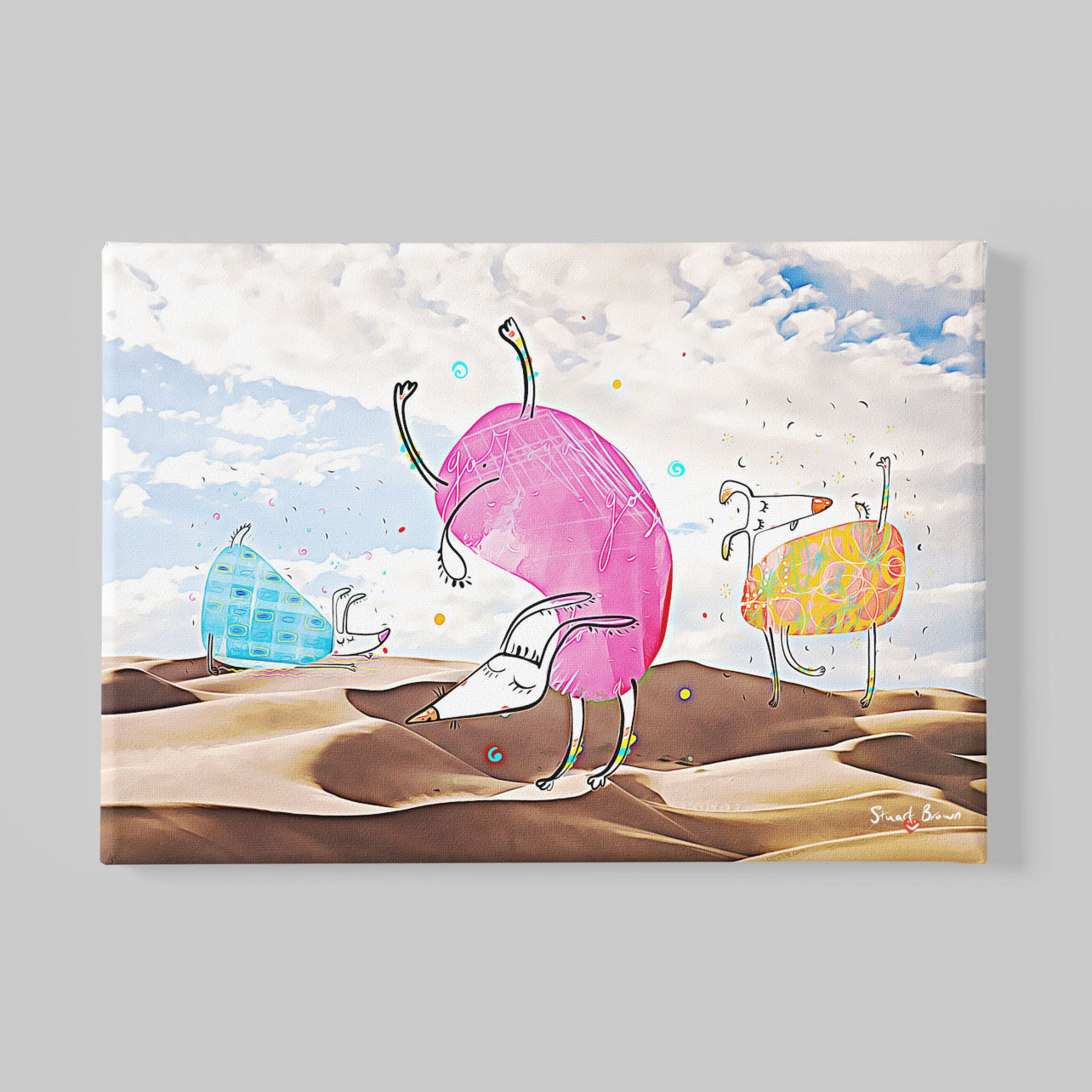 yoga asanas canvas print