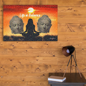 yoga wall art