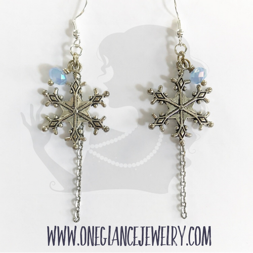 Earrings, Snowflake