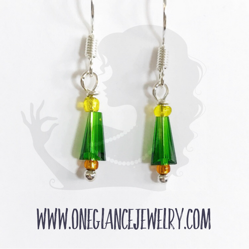 Earrings, Mini Christmas tree
