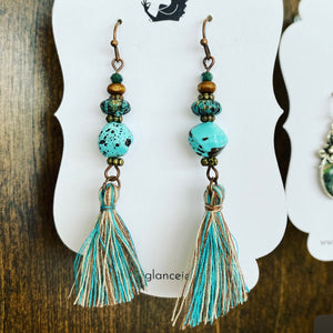 Boho tassel earrings