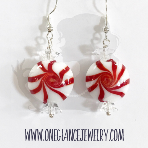Earrings, Peppermint