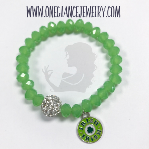 St Patrick's Day stretch bracelet, Irish