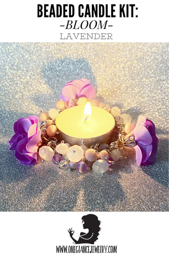 CANDLE KIT, BLOOM-Lavender