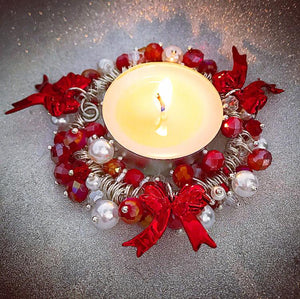 CANDLE KIT, RED RIBBON