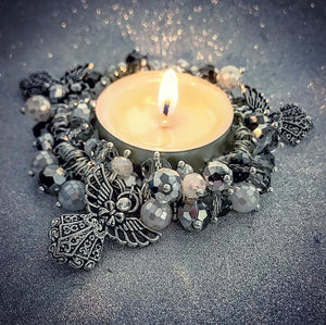 CANDLE KIT, Silver singing angels