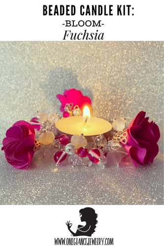 CANDLE KIT, BLOOM-Fuchsia