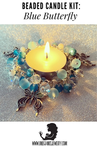 CANDLE KIT, Blue Butterfly