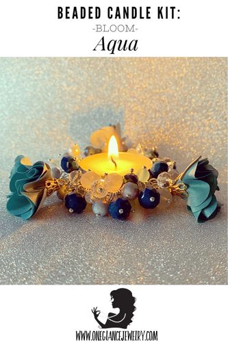 CANDLE KIT, BLOOM-Aqua