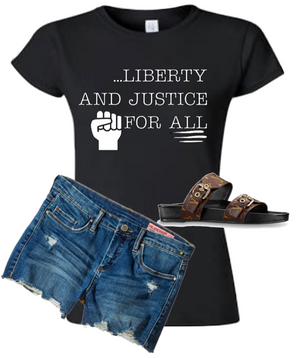 Liberty and Justice for All T-Shirt (Women's 4XL Plus Size)