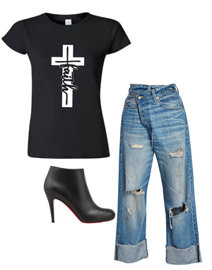 Faith on the Cross T-Shirt (4XL - Plus Size)
