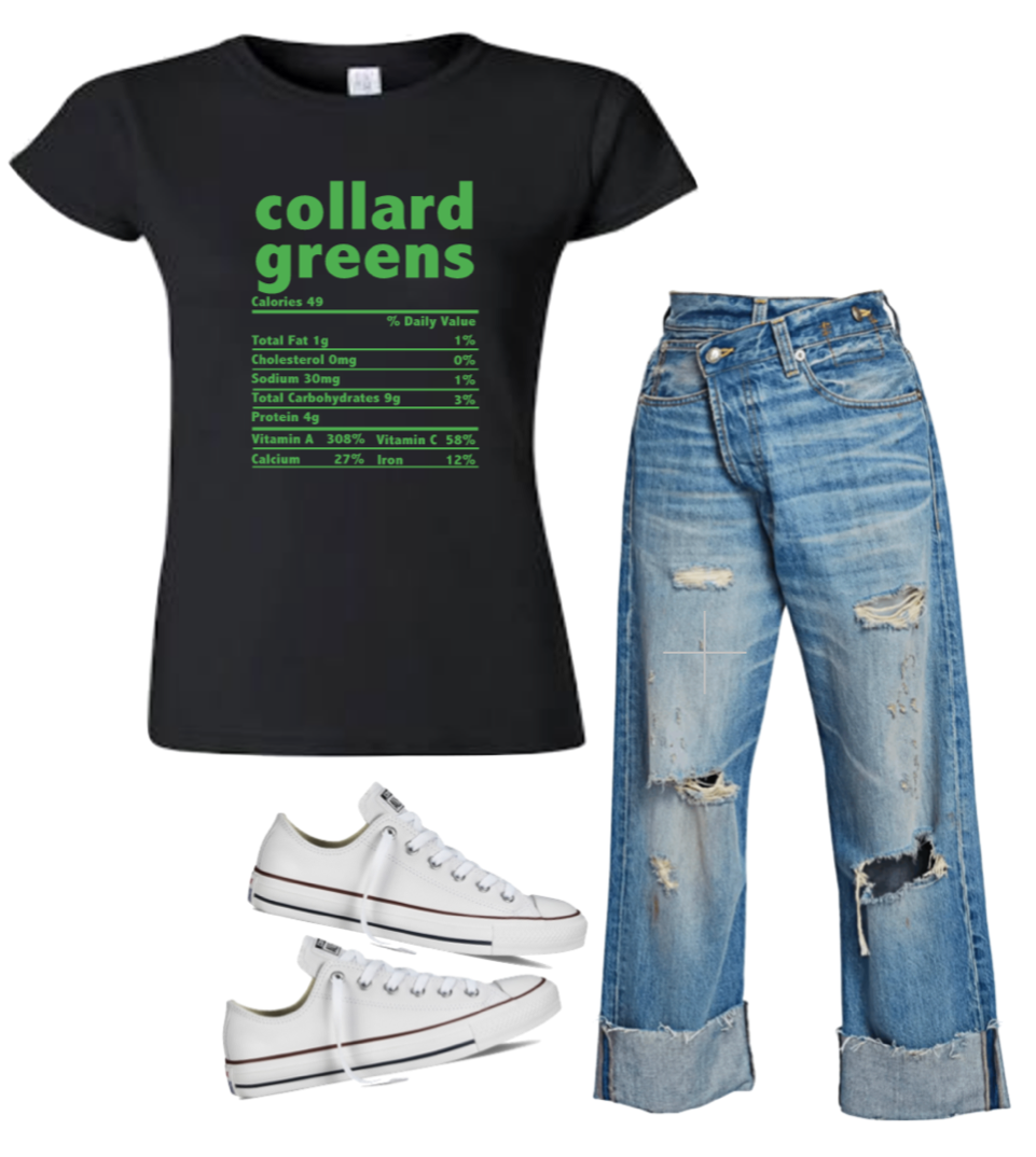 Collard Greens T-Shirt (4XL - Plus Size)