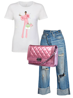 Cotton Candy Luxe T-Shirt (Pink)