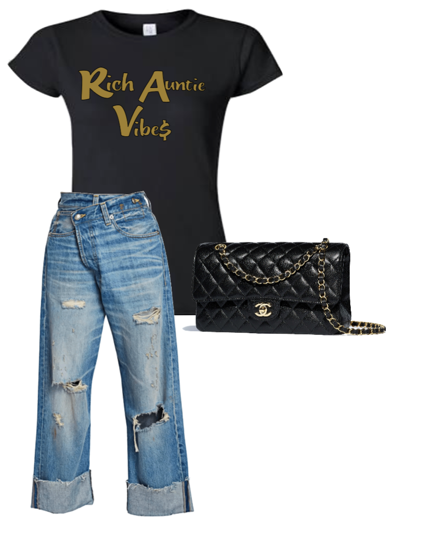 Rich Auntie Vibes T-Shirt (4XL - Plus Size)