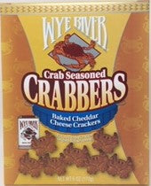 Crabbers Crab Seasoned Baked Cheddar Cheese Crackers 6 oz