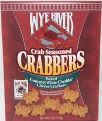 Crabbers Crab Seasoned Baked Gourmet White Cheddar Cheese Crackers 6 oz