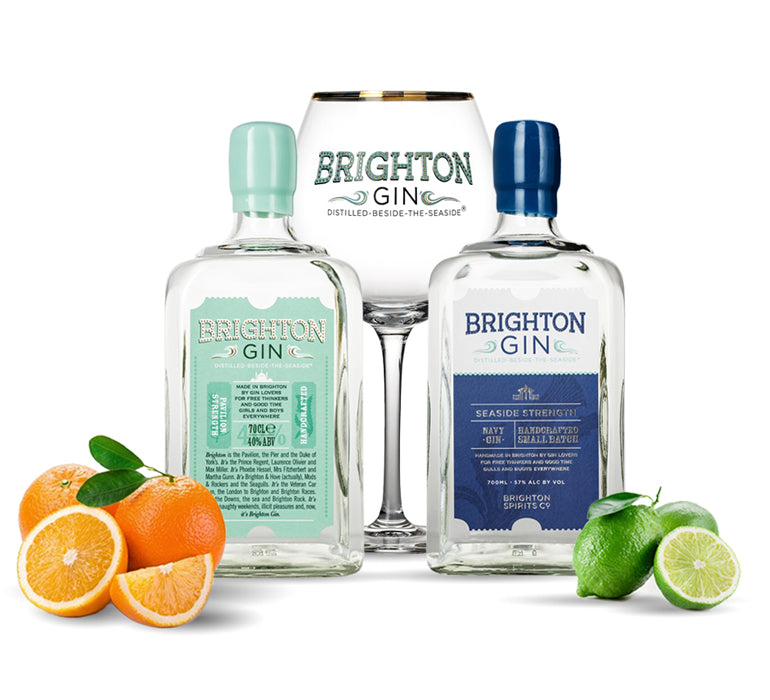 Brighton Gin & Tonic with Orange or Lime garnish