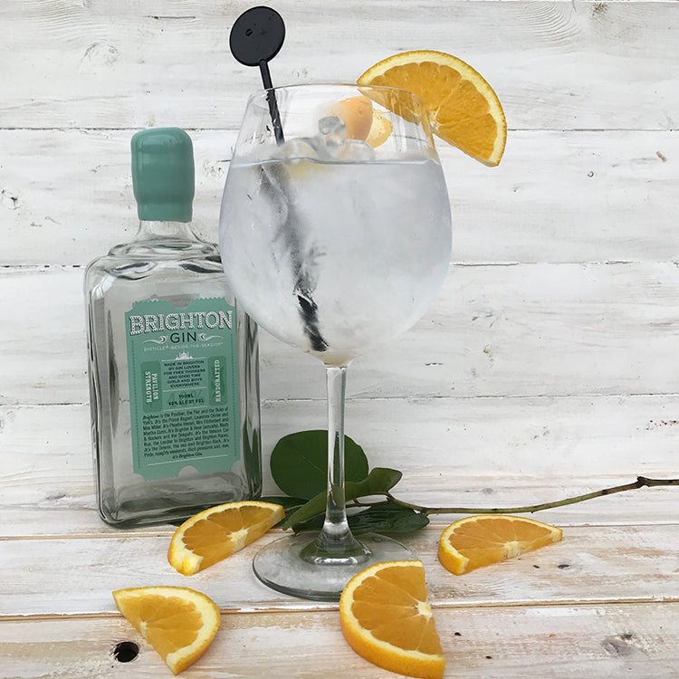 Brighton Gin & Tonic served with a slice of orange