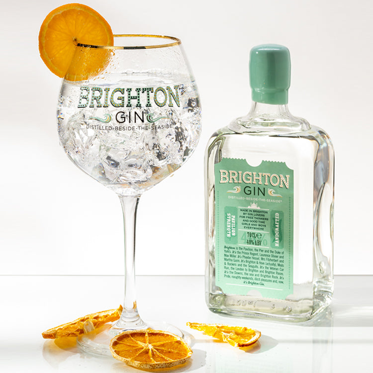 Brighton Gin & Tonic served in our copa gin glass