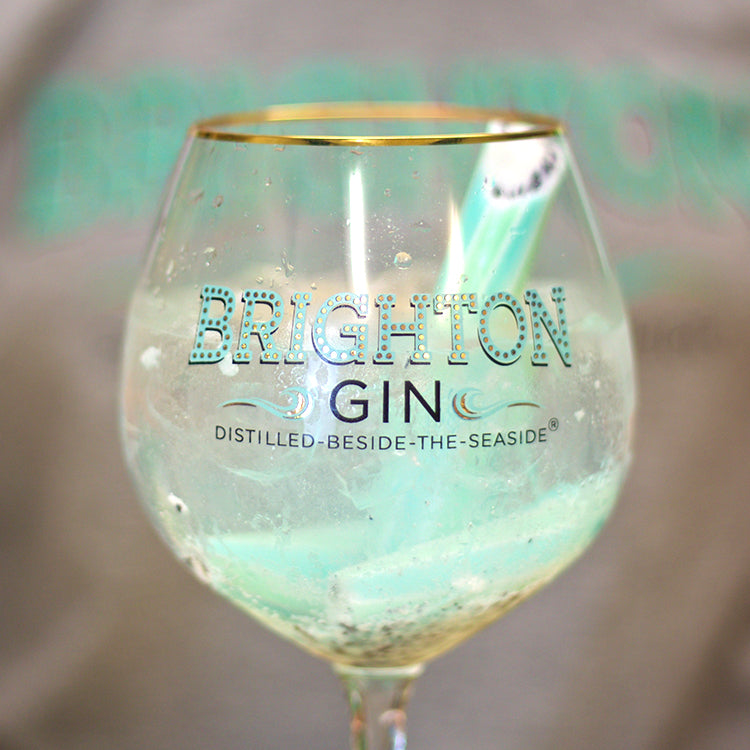 Brighton Gin Rocktail served in our copa gin glass