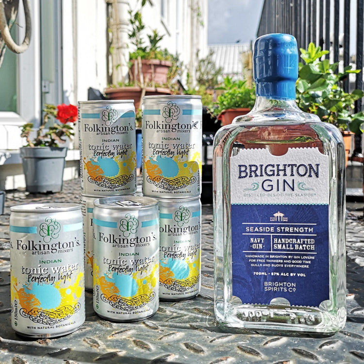 Brighton Gin Mixer Set including Folkington's Tonic