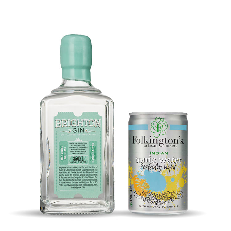 Brighton Gin & Folkington's Tonic Mixer Set