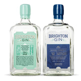 Brighton Gin 700ml Bottles of Pavilion 40% and Seaside 57% Navy Gin