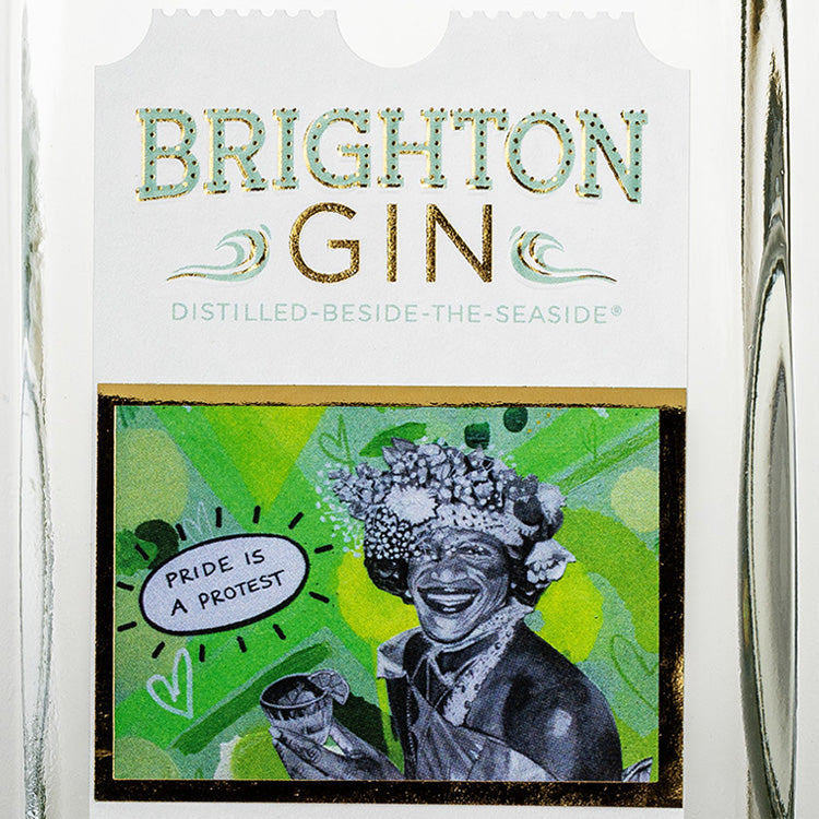 Artwork for bottle label - Limited Edition Pride 2019 Brighton Gin
