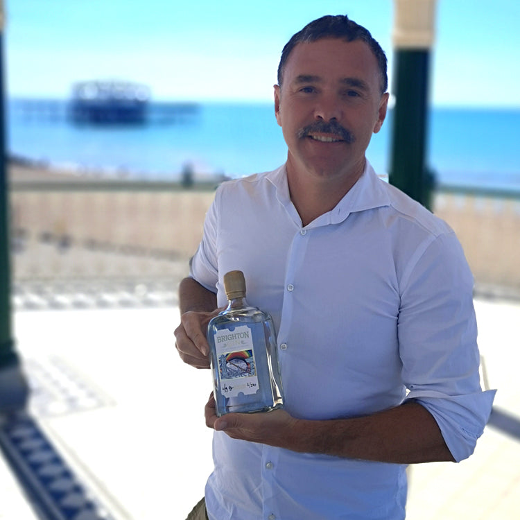 Brighton Gin Limited Edition Pride 2020 Label Artist - Alej Ez