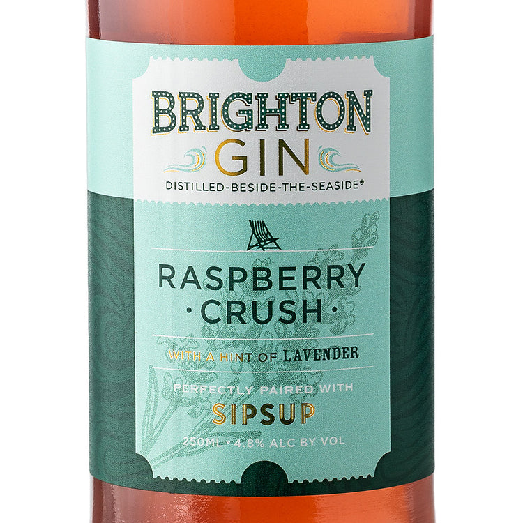 Brighton Gin & Sipsup Ready to Drink Raspberry Crush