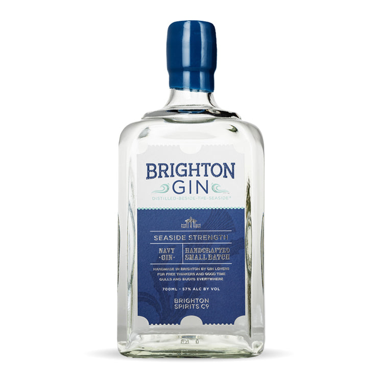 Brighton Gin - 700ml Bottle Seaside Navy Strength Gin (57% ABV)