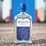 Brighton Gin Seaside Navy Strength Gin on the beach