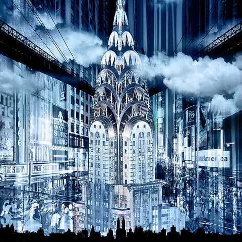 RÉGIS COLOMBO - BLUE CHRYSLER BUILDING, NEW YORK - ART