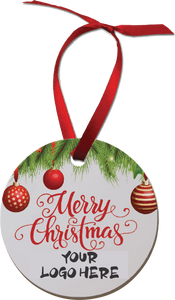 4840  Christmas Ornament White