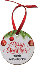 Load image into Gallery viewer, 4840  Christmas Ornament White