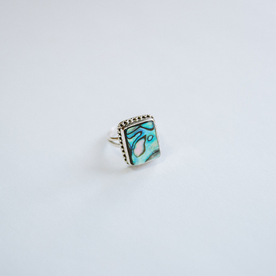 The Square Abalone Ring