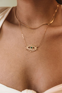 The Emerald Evil Eye Necklace